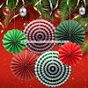 Paper Fan Set 6 Pcs (Christmas Edition 02)