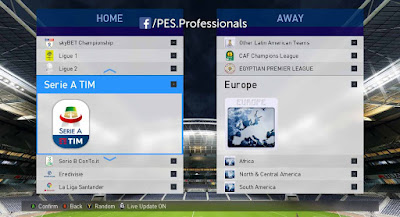 PES 2017 PES Professionals Patch 2017 V5 AIO Season 2018/2019