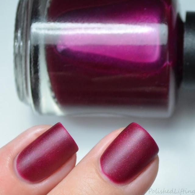 wine matte nail polish