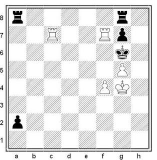 Posición de la partida de ajedrez Svoboda - Jelinek (Checoslovaquia, 1990)