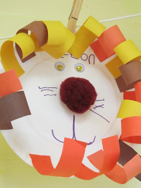 Paper Plate Lion Preschool Craft