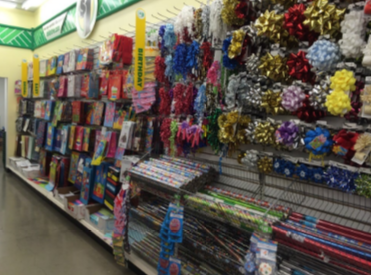 The dollar tree store party gift wrap