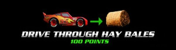 Drive through hay bales (100 points)