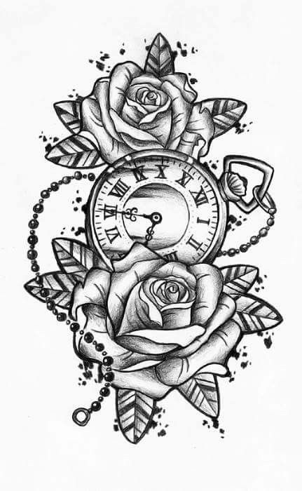 49+ AMAZING CLOCK TATTOOS IDEAS