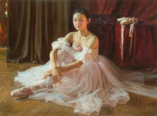 Chinese Realistic Oil Painting Artist   Guan Zeju 1942