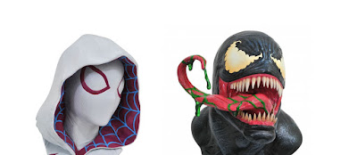Legends in 3D Marvel's Venom & Spider-Gwen ½ Scale Resin Busts by Diamond Select Toys