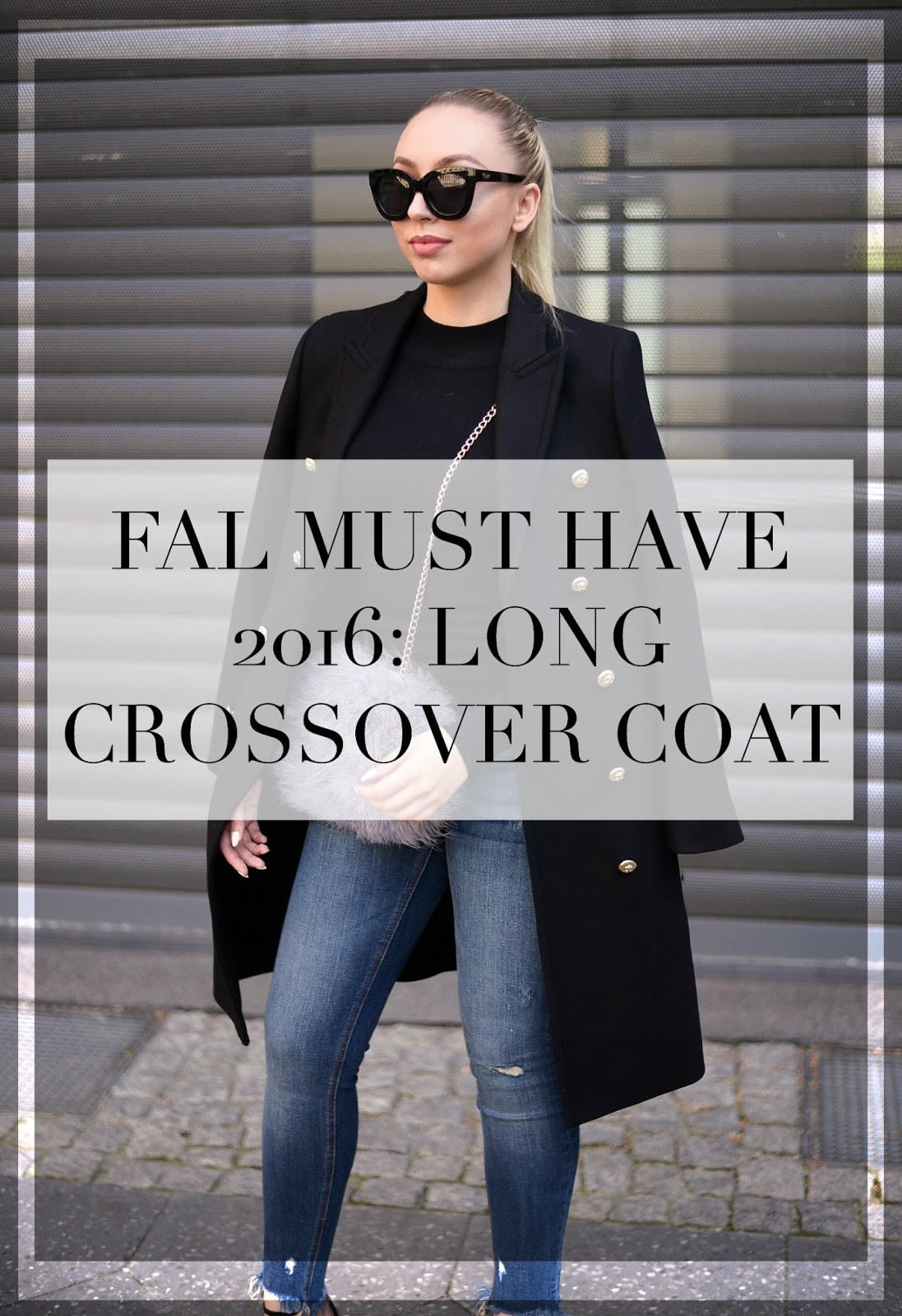 fall must have 2016: long crossover coat from zara