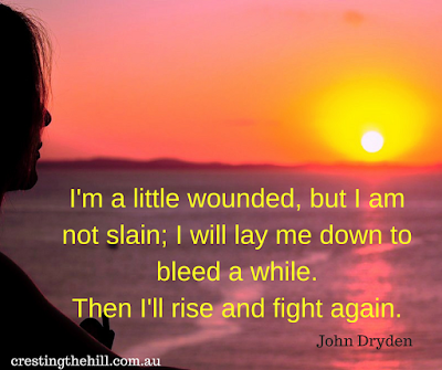 Then I'll rise and fight again - John Dryden