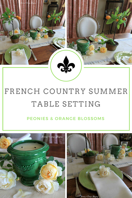 French Country Summer Table Setting Decor Idea