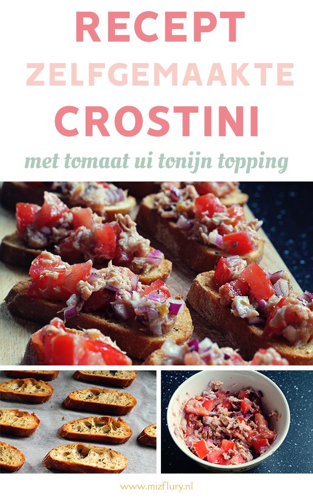 recept zelfgemaakte crostini pinterest