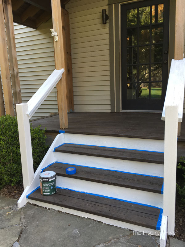 How to stain front porch steps