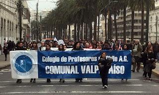 Protesta nacional docente: hoy en valparaíso