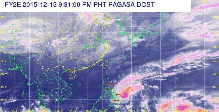 Typhoon Nona PAGASA Latest Weather Update December 13-14, 2015