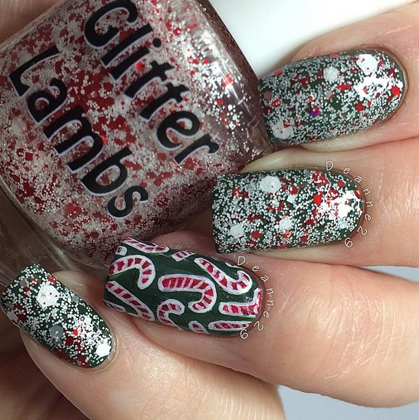 Cool amazing unique incredible glitter topper nail polish for holiday Christmas nail polish