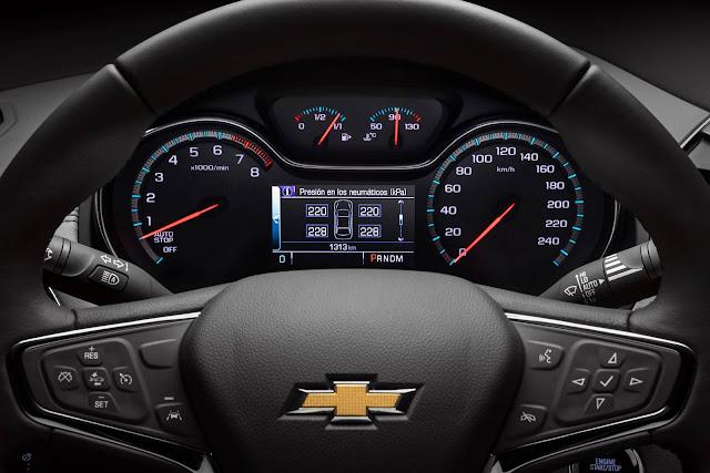 Novo Chevrolet Cruze 2017 - cluster de instrumentos