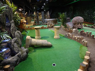 A view of the Lost World Adventure Golf course at Mr Mulligan's in Stevenage