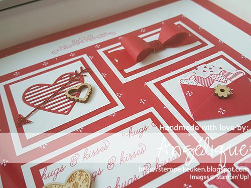 de Stempelkeuken De plaats om uw Stampin' Up! materialen te kopen. http://stempelkeuken.blogspot.com/2017/02/ch-bloghop-alles-is-liefde.html #stempelkeuken #stampinup #stampinupnl #valentijn #valentine #cardmaking #homemade #homedecor #homedeco #sealedwithlove #realred #whisperwhite #bow #bowbuilderpunch #love #loveyou #heart #hearts #glitter