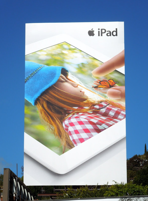 Giant Apple iPad butterfly billboard
