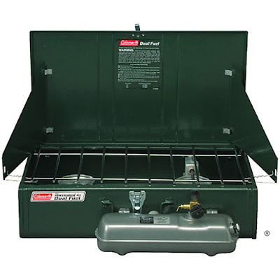 dual fuel burning Coleman Powerhouse grill