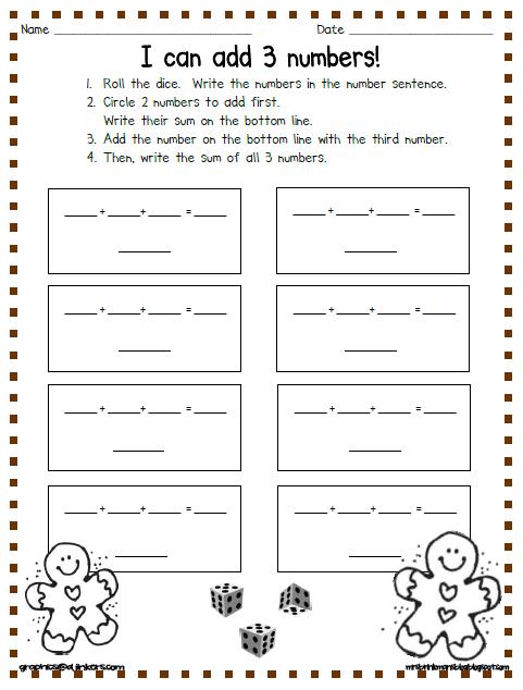 Math Worksheets gingerbread math worksheets : Mrs. Brinkman's Blog: January 2013