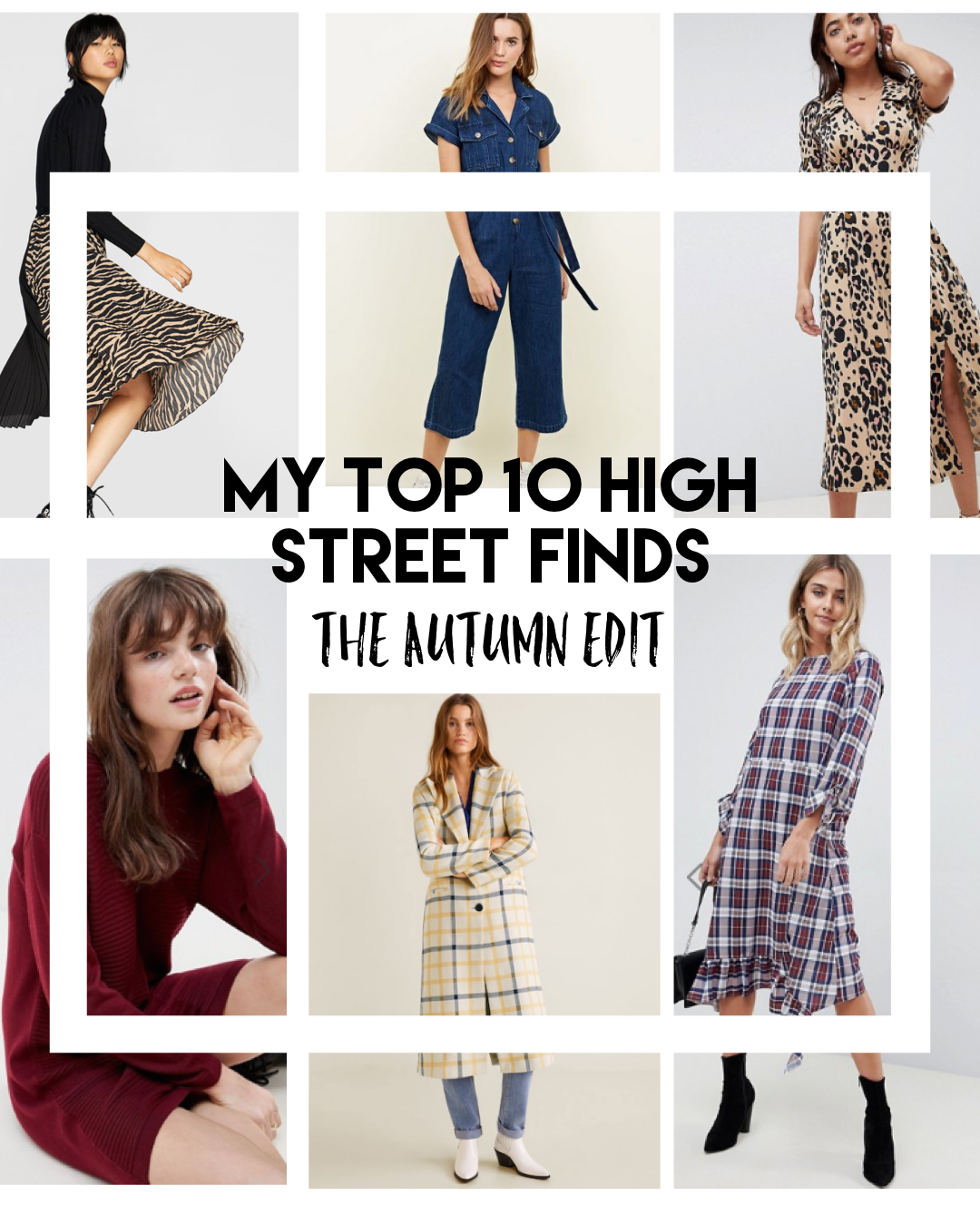 My Top High Street Finds #3 - The Autumn Edit // Lauren Rose Style // Fashion Blogger London Wishlist