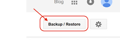 Blogger Back up and Restore Setting