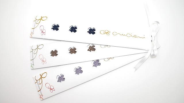 packaging braccialetti cruciani quadrifoglio