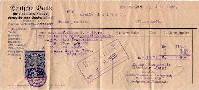 43 - Bank Transaction For Traveler's Checks - 23 June 1936