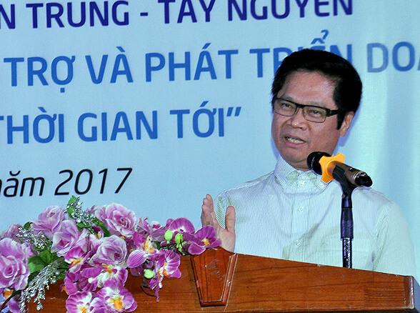 Tiến sĩ Vũ Tiến Lộc – Chủ tịch VCCI phát biểu tại Hội nghị