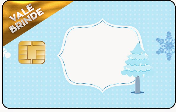 Tarjeta con forma de Visa de Frozen  Niñas en Navidad.