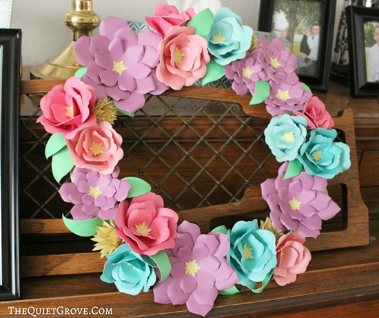 The Quiet Grove - Paper Flower Wreath