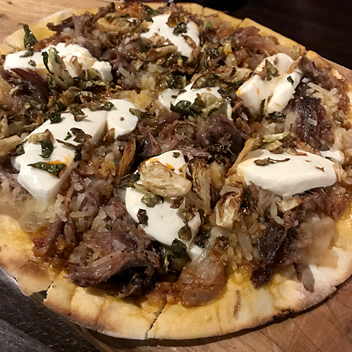 Duck Confit Flatbread | 5Church Atlanta | Photo: Travis S. Taylor