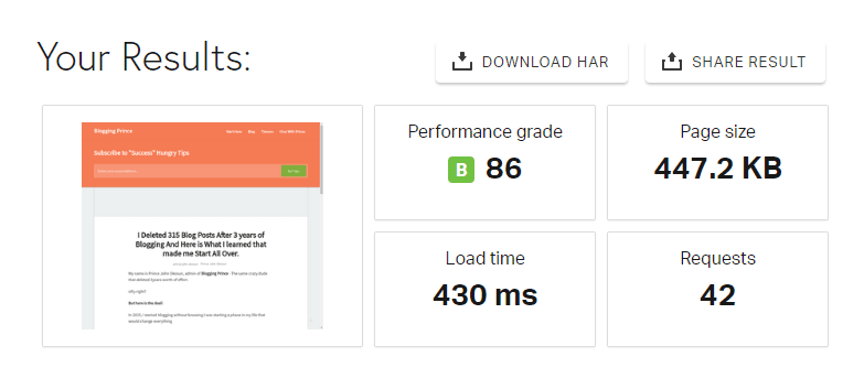 pingdom pagespeed tool