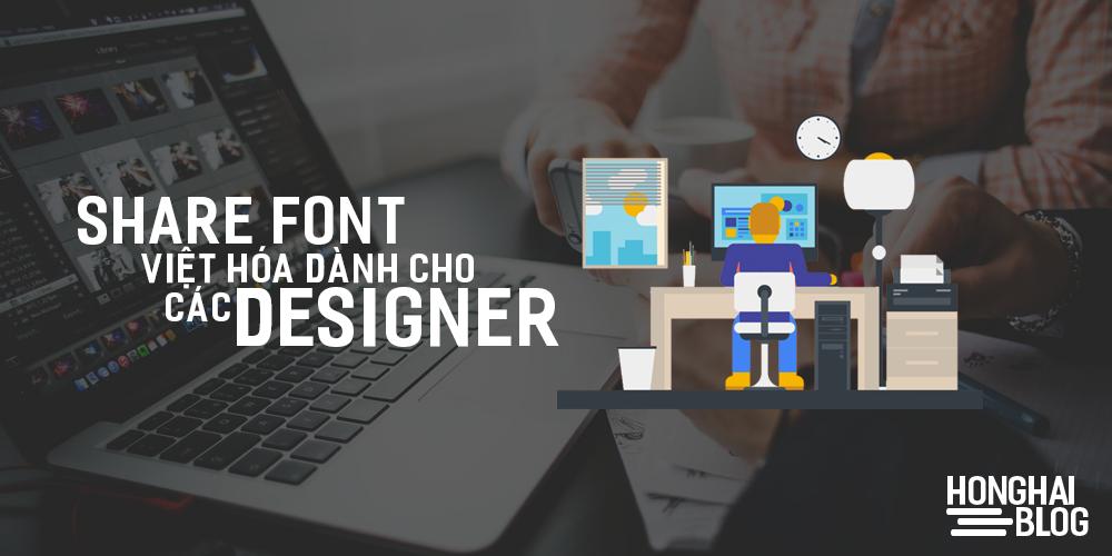 Share font việt hóa dành cho các designer