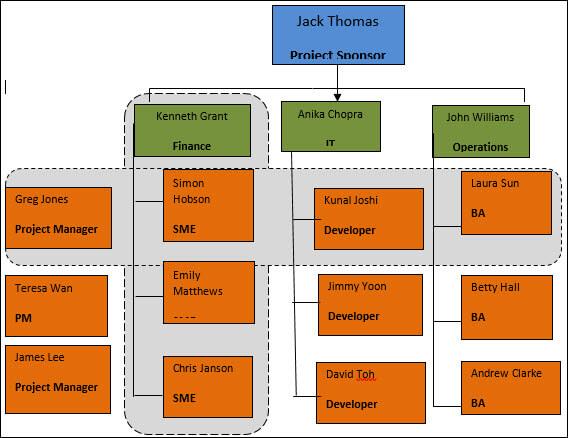 Matrix organization structure, Matrix Team Structure,