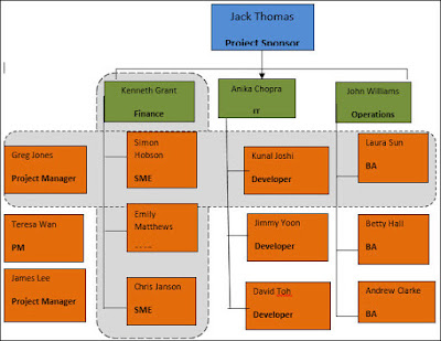 Matrix organization structure, Matrix Team Structure,