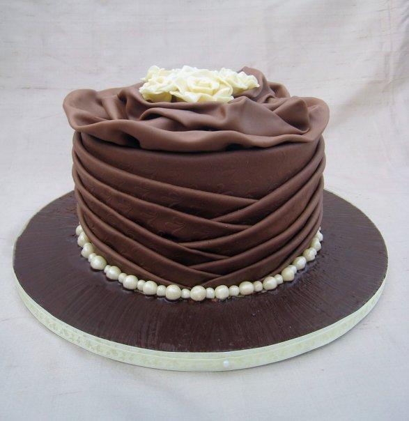 Chocolate Cake With Marzipan Icing
