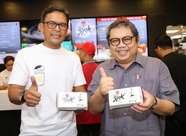 Thumbs To McDonald's Burger Syok with Datuk Lat &  Azmir Jaafar, Managing Director of McDonald's Malaysia