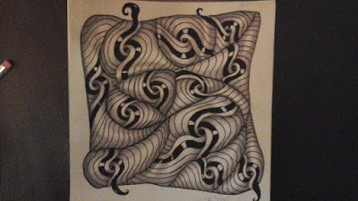 Zentangle verve tile shading