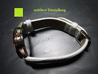 mittlere Einstellung: Ostan Damen Uhren Mode Weiß Leder Runde Zifferblatt mit Zirkonia Armkette Armband Armbanduhr Uhr