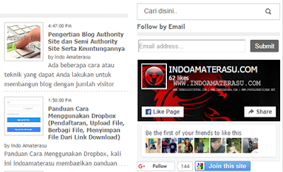 Facebook Facebook Like Box tampilan dekstop browser