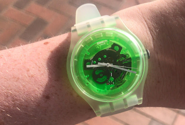 Neon Green Swatch Watch