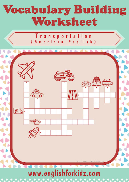 Transport crossword puzzle for ESL students