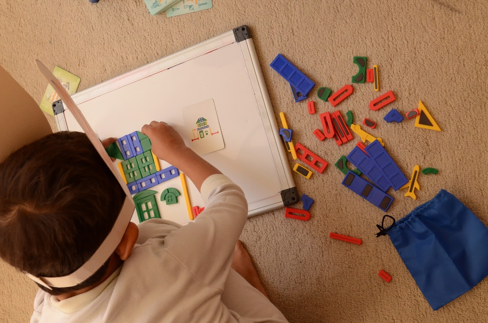 The Practical Mom: Our Engineering Busy Bag: Magnetic Building Edition Play Board