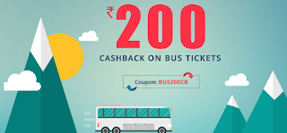 Reload - Get Rs.200 Cashback on Bus Tickets