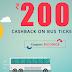 Reload - Get Rs.200 Cashback on Bus Tickets