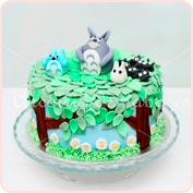 Tarta fondant Totoro