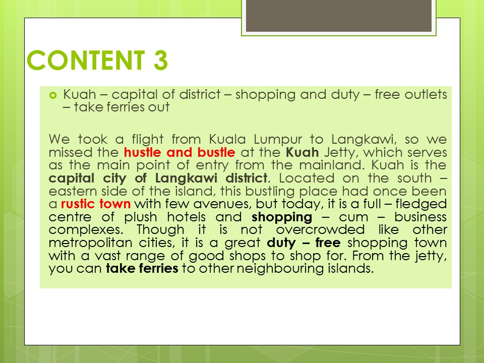 informal letter visiting langkawi