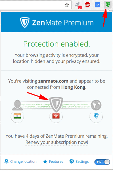 use zenmate to watch youtube blocked video