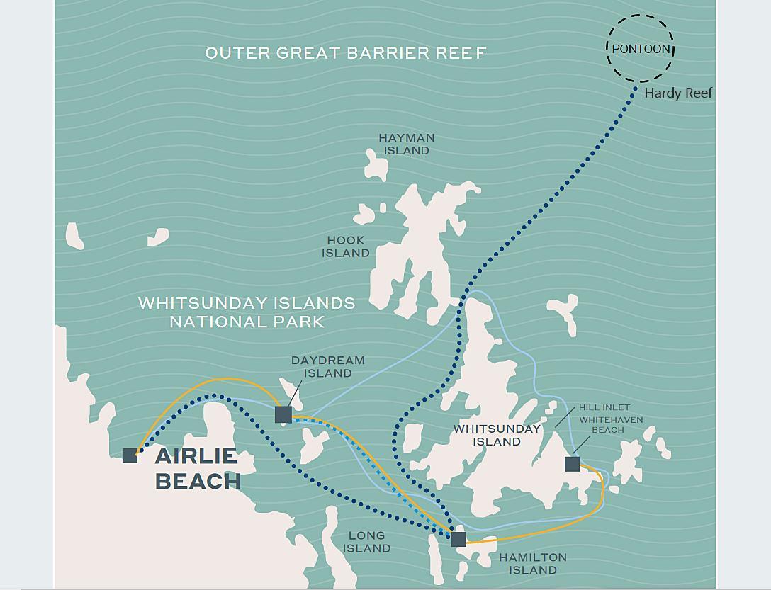 聖靈群島-景點-推薦-大堡礁-浮潛-潛水-行程-地圖-玩水-一日遊-遊記-攻略-自由行-旅遊-澳洲-Whitsundays-Great-Barrier-Reef
